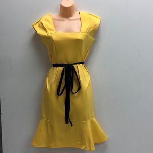 Women's Yellow Midi Dress